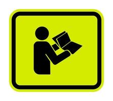 Read Technical Manual Before Servicing symbol Isolate On White Background,Vector Illustration EPS.10 vector