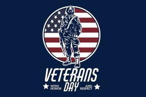 día de los veteranos con diseño de silueta de honor y respeto. vector