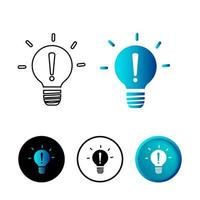 Abstract Bulb Exclamation Mark Icon Illustration vector