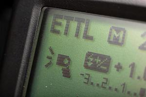 E-TTL mode screen photo
