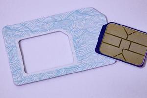 Cassilandia, Mato Grosso do Sul, Brazil, 2021 -SIM card from the Veek operator photo