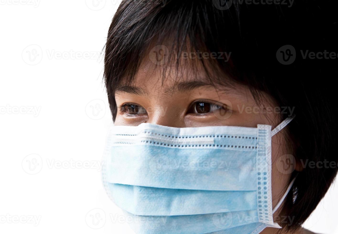 maschera la bocca del paziente foto