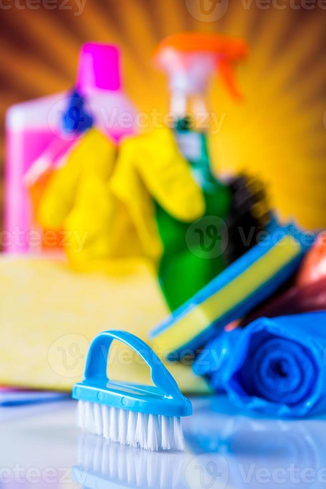 tema di pulizia colorato foto