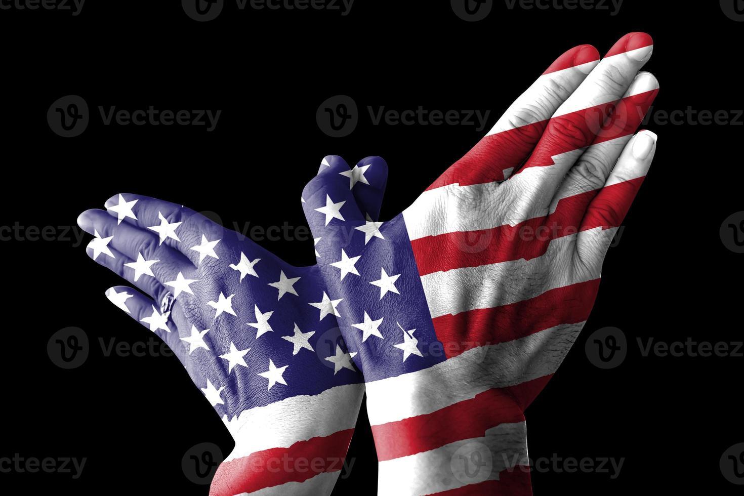 segnale di mano uccello USA foto