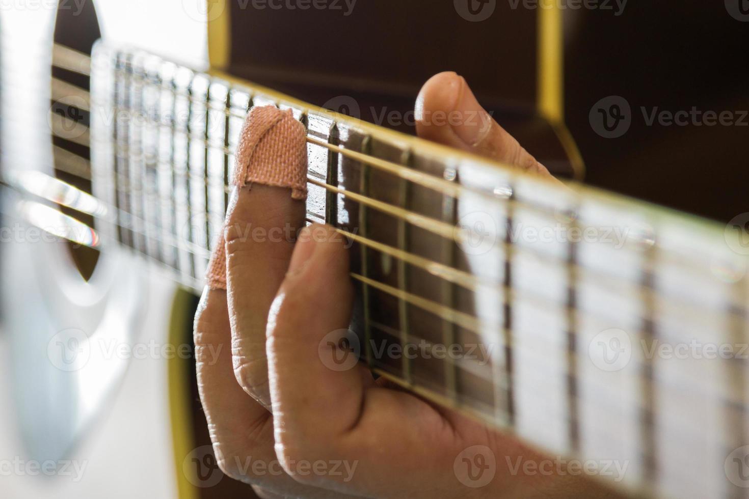 sforzo di chitarra foto