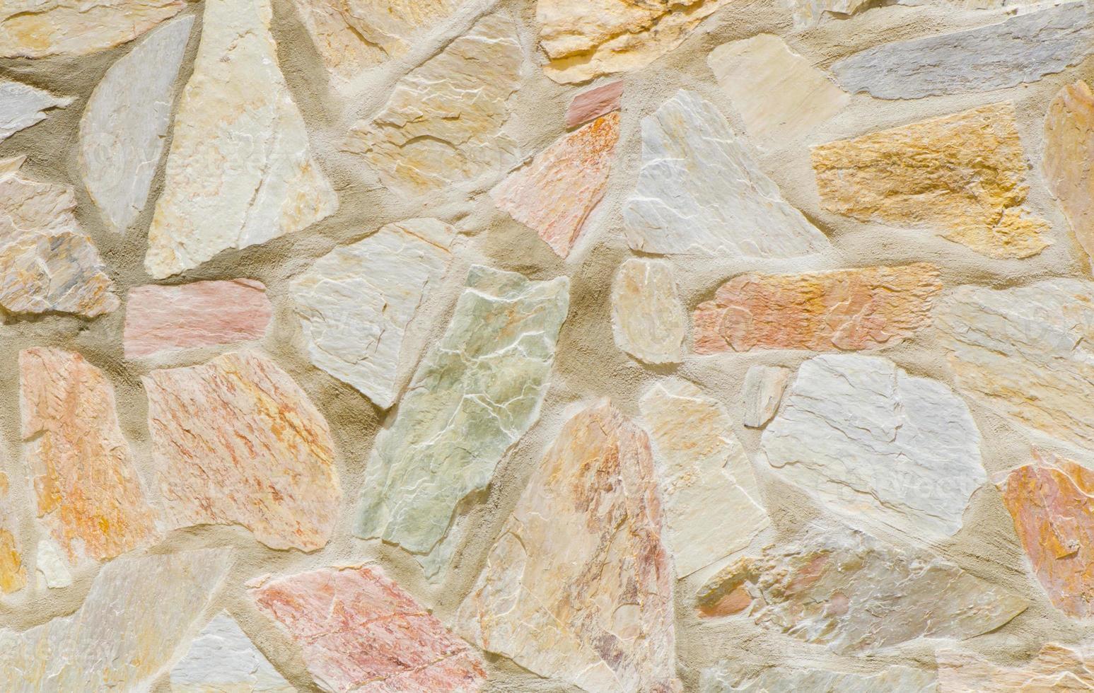 muro di pietra senza soluzione di continuità. foto