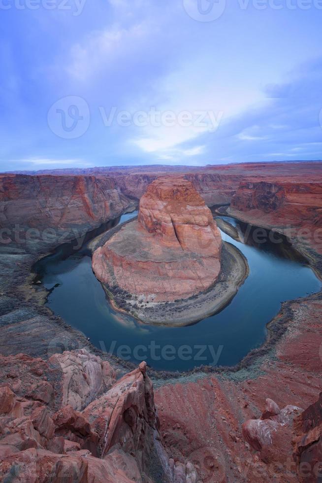 fiume Colorado. curva a ferro di cavallo foto
