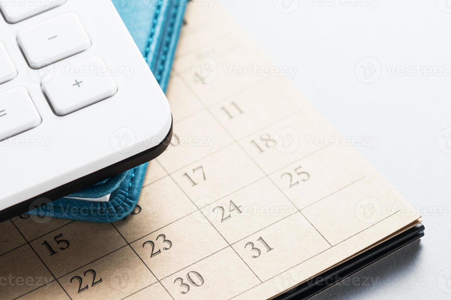 calendario e forniture per ufficio. foto