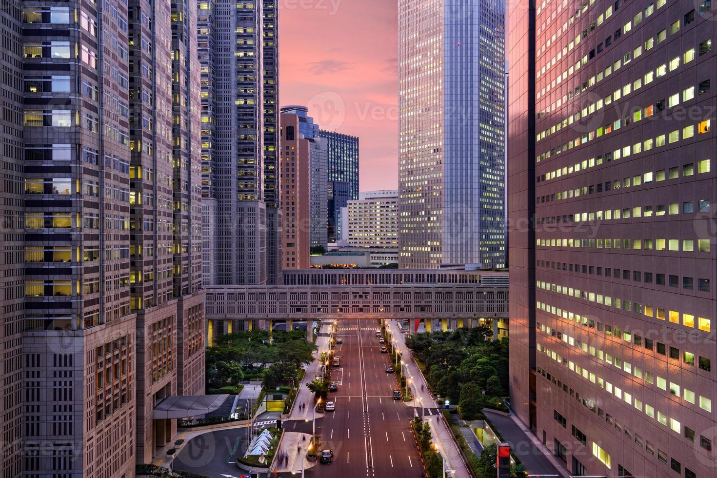 edifici governativi metropolitani di Tokyo foto