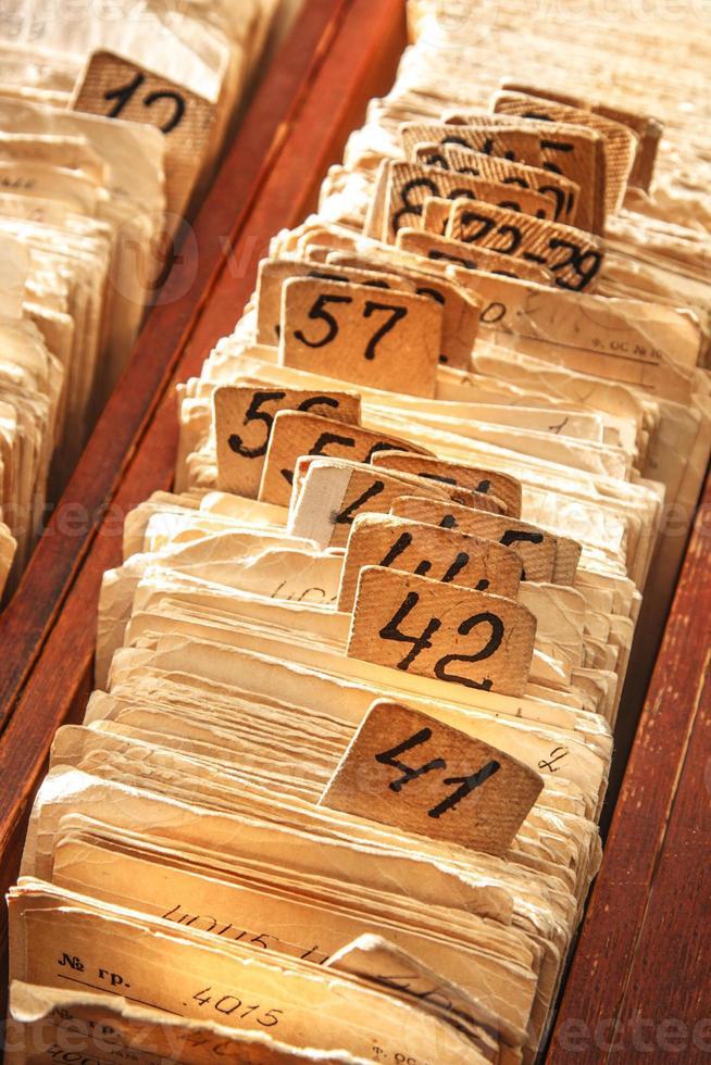 cartelle di file di archivio foto