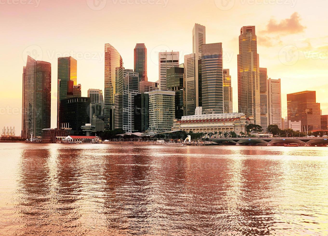 vista del centro di Singapore foto