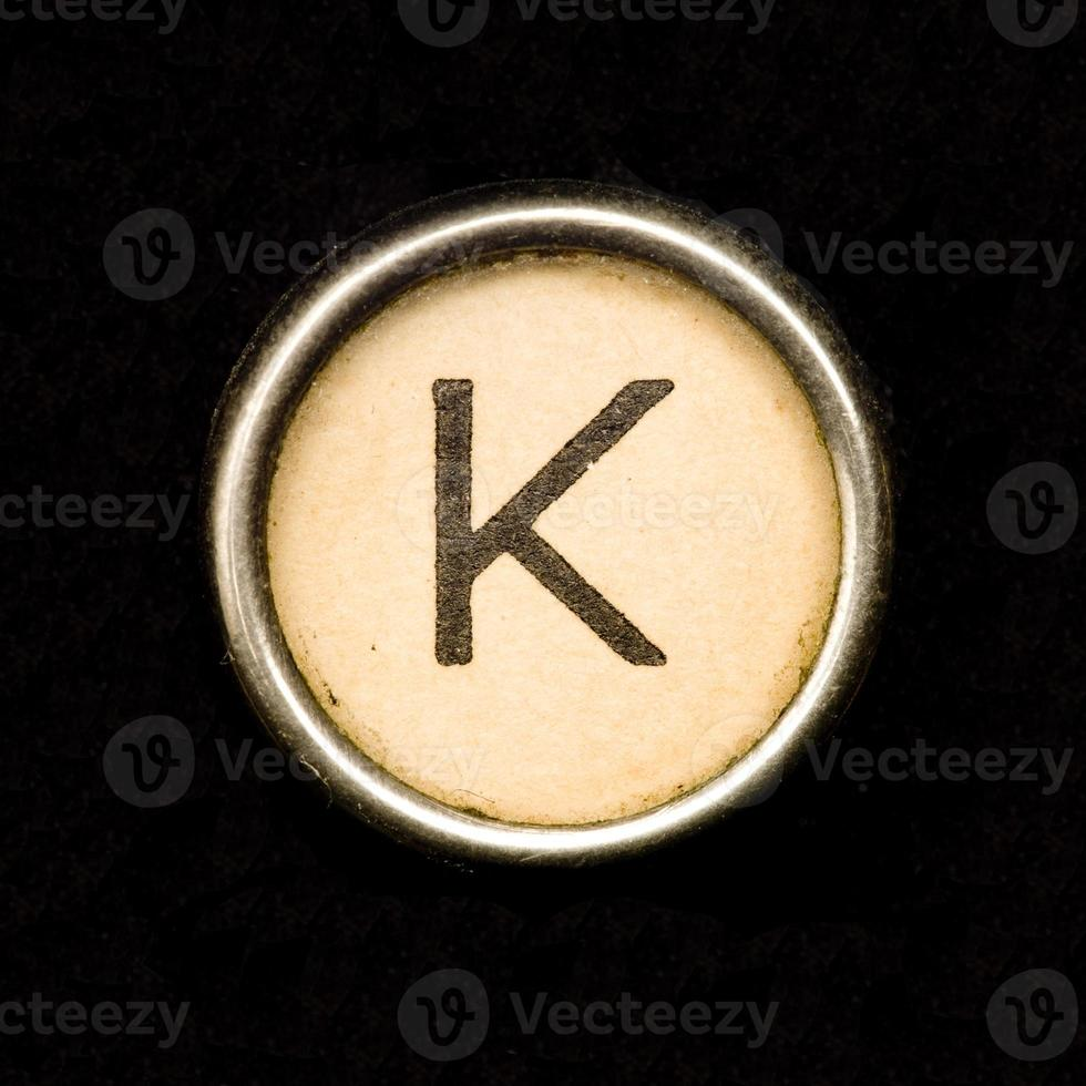 macchina da scrivere lettera k foto
