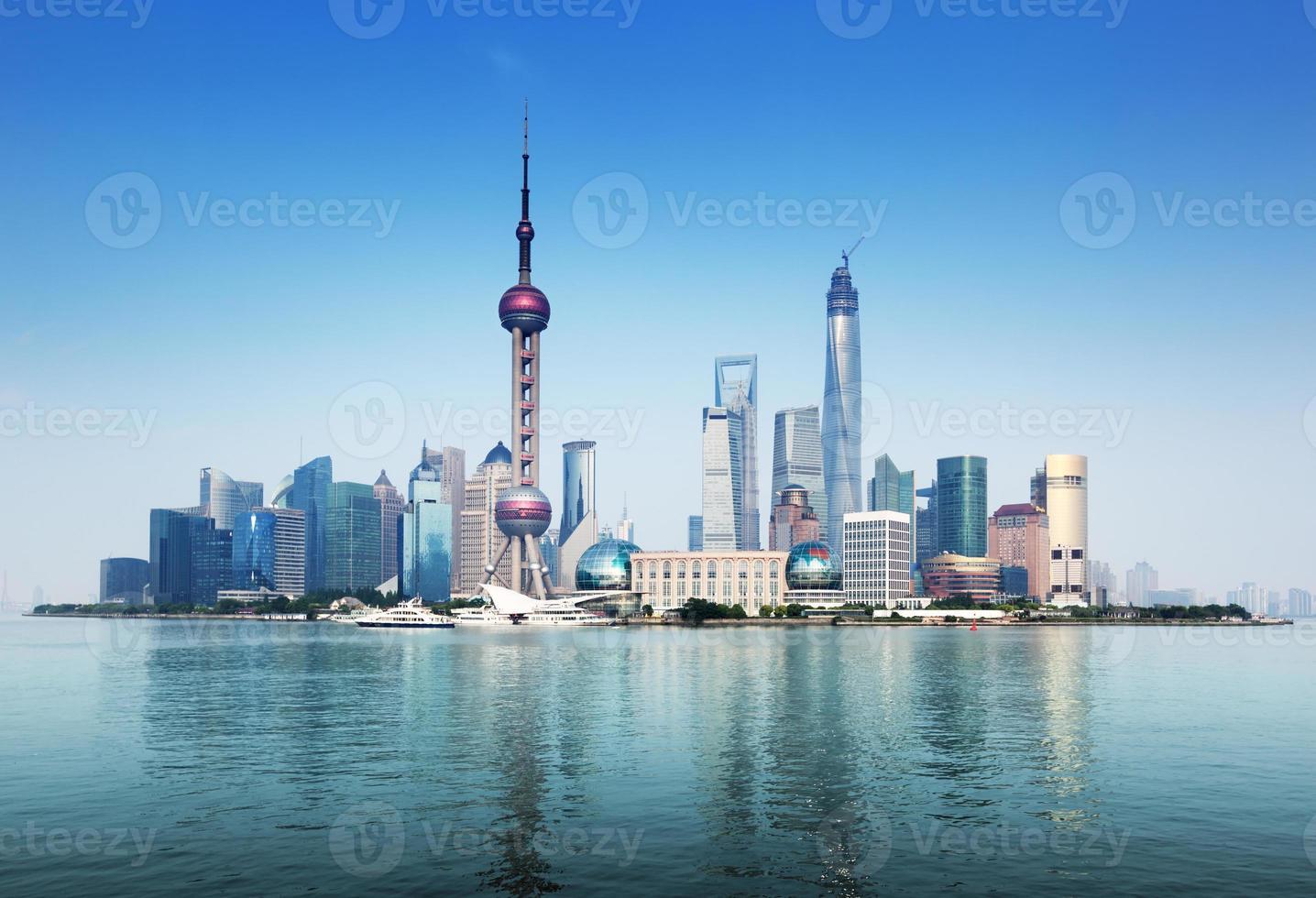 Skyline di Shanghai, Cina foto