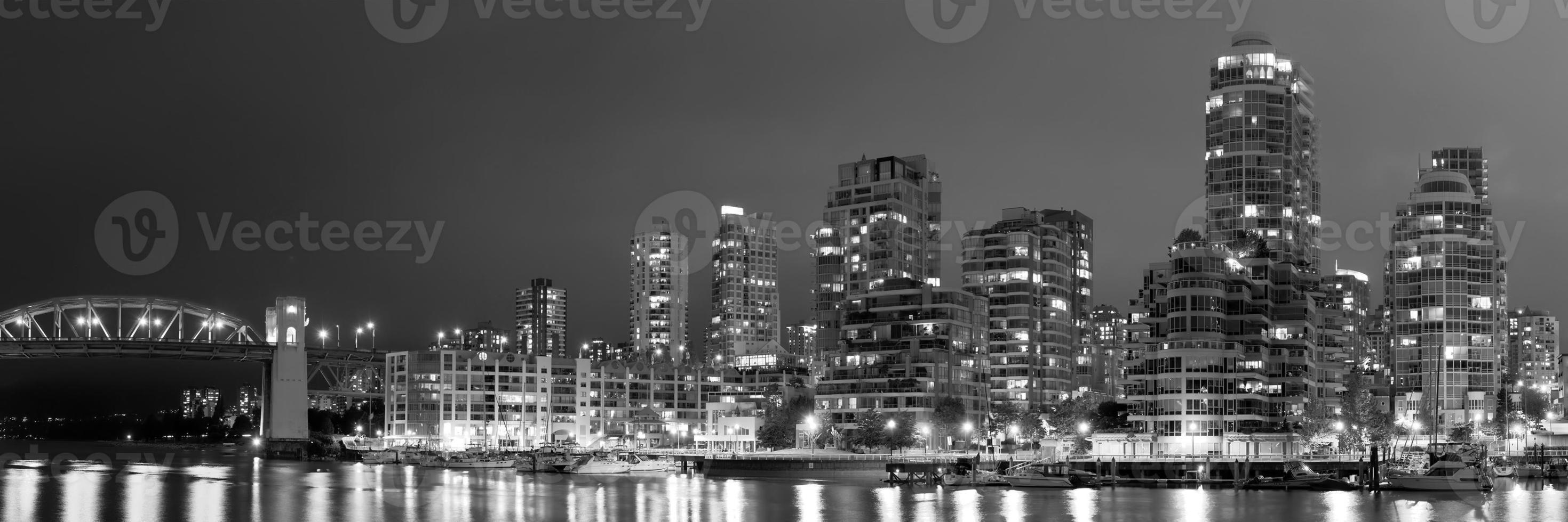 Vancouver notte foto