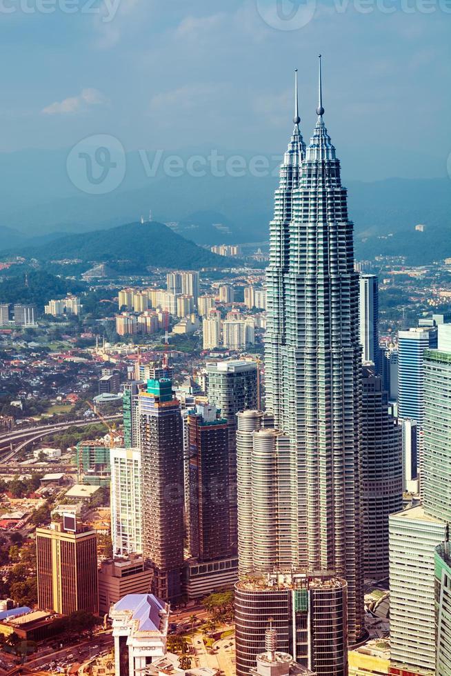 Skyline di Kuala Lumpur - Malesia foto