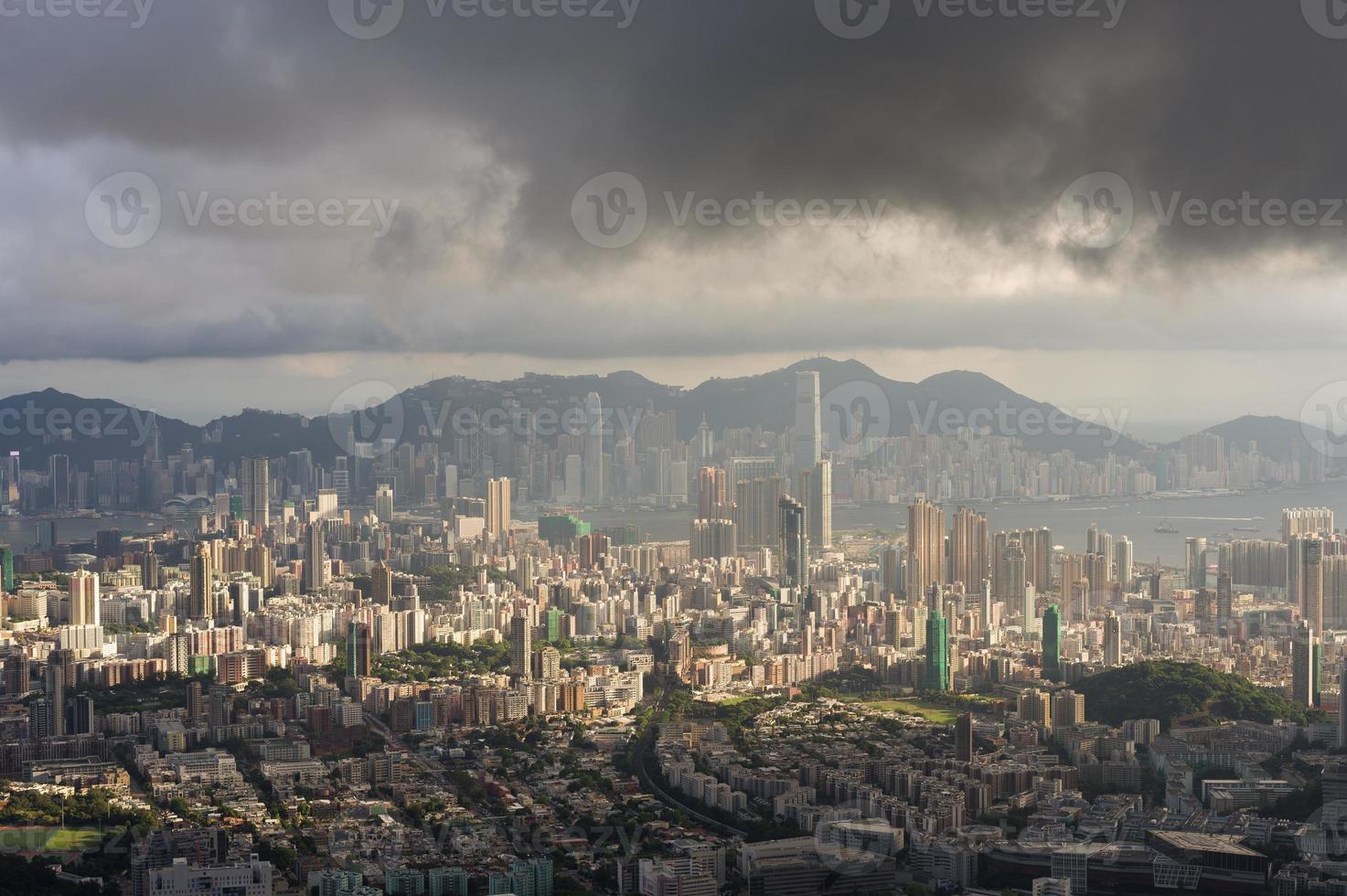 vista di paesaggio urbano di Hong Kong foto