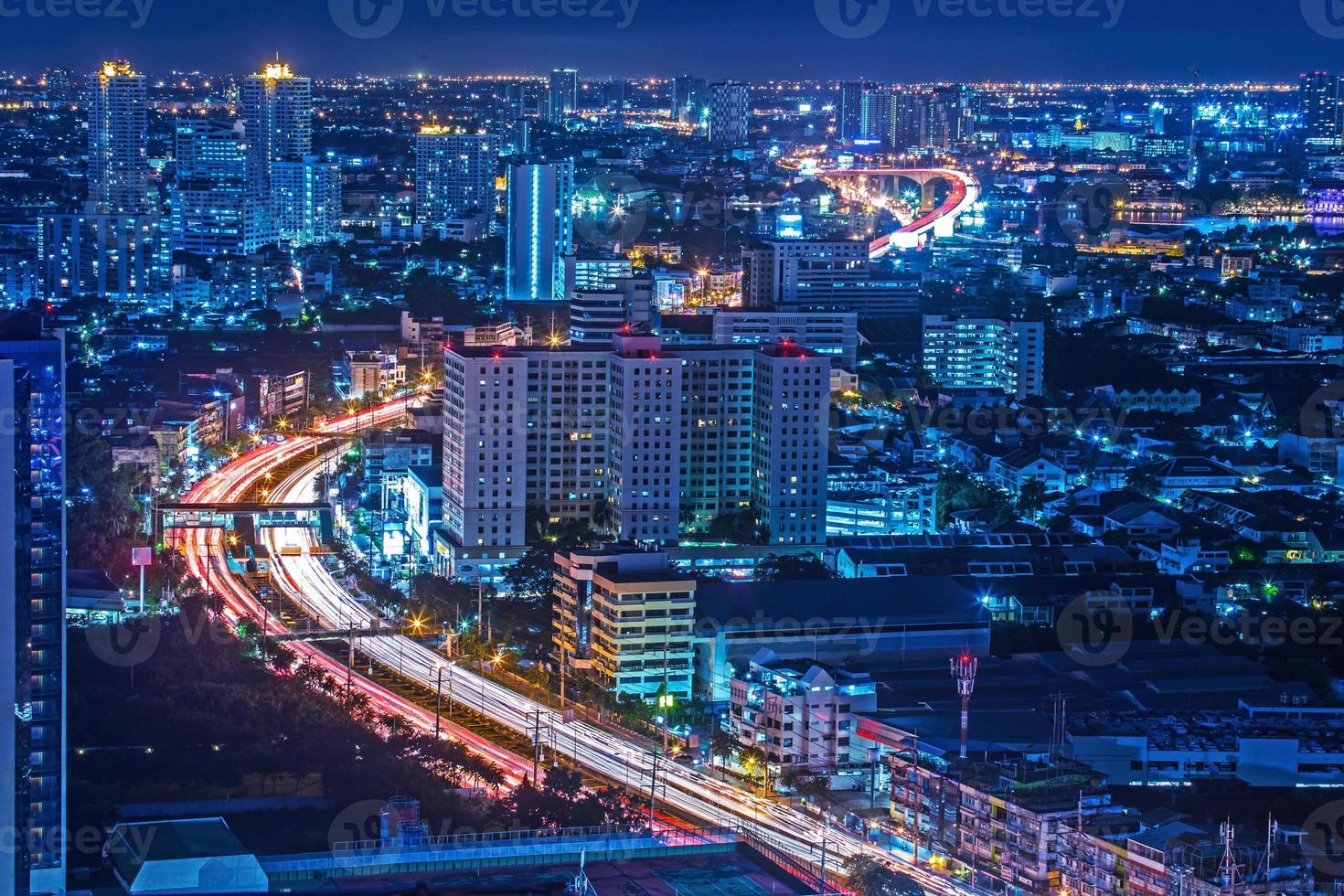 la vista dall'alto di Bangkok in Tailandia foto