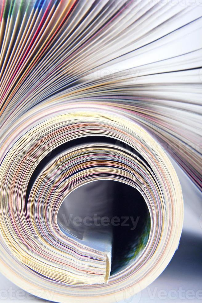 macro rivista arrotolata foto