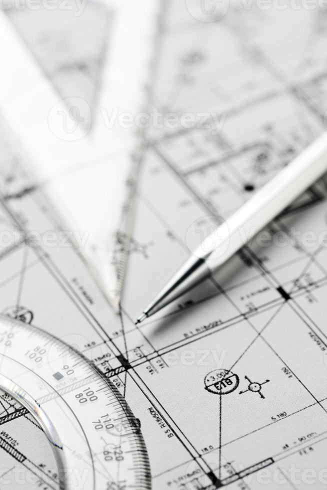 primo piano sul progetto dell'architetto foto