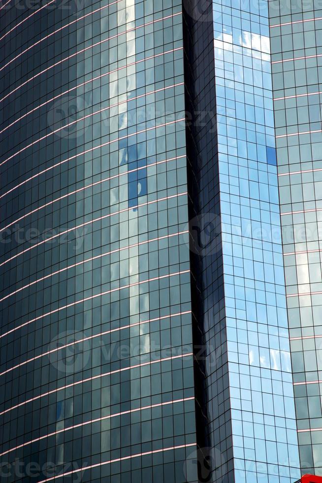 Asia Tailandia riflesso del grattacielo al centro foto