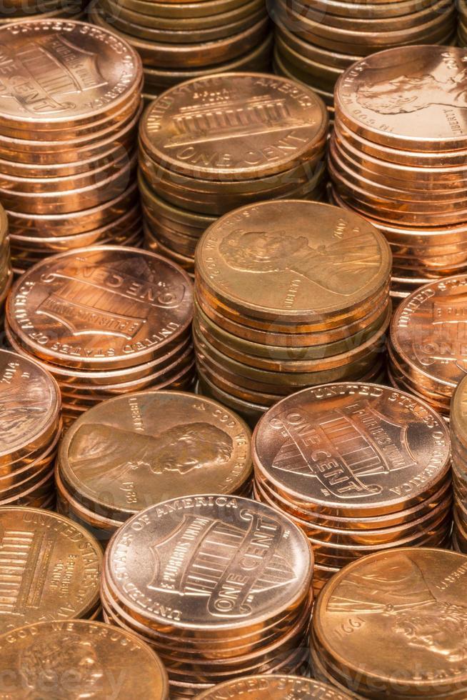 pile di penny foto