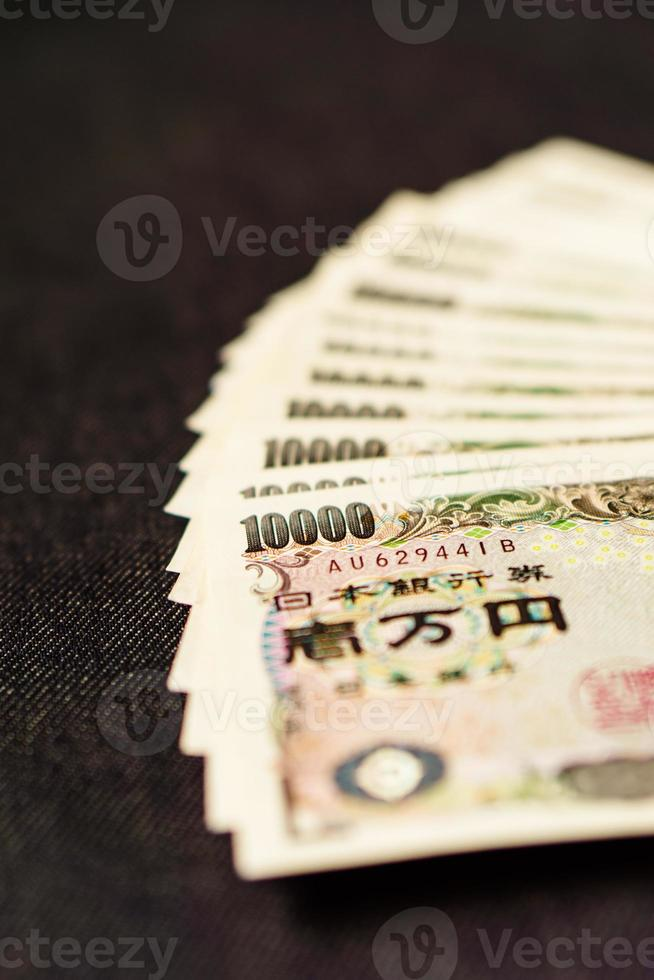 mucchio di note yen giapponesi foto