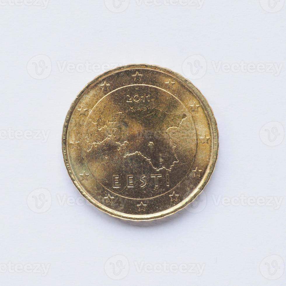 moneta estone da 10 centesimi foto
