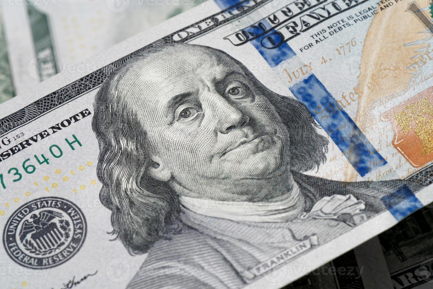 benjamin franklin banconota da 100 dollari foto