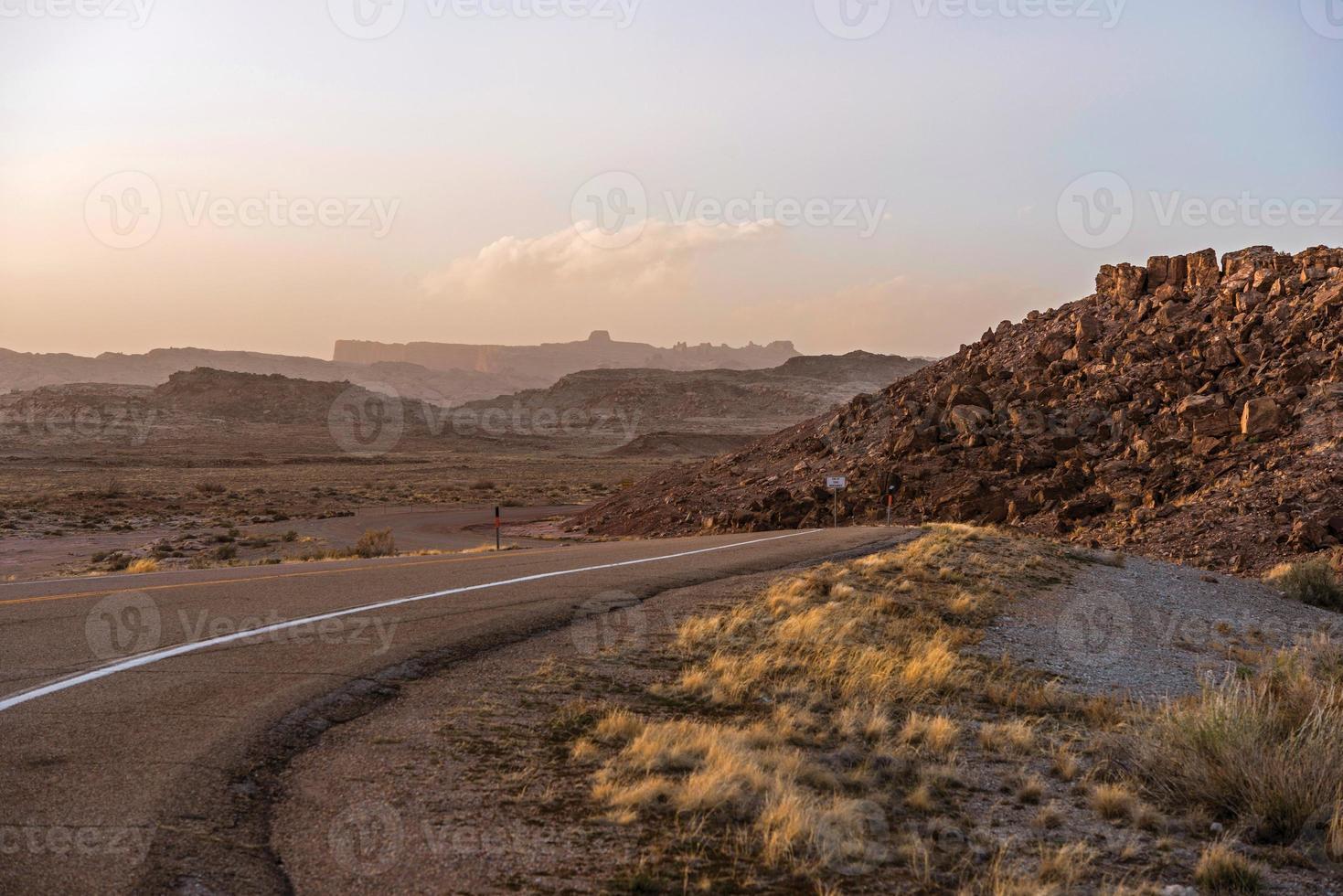 Utah strada del deserto foto