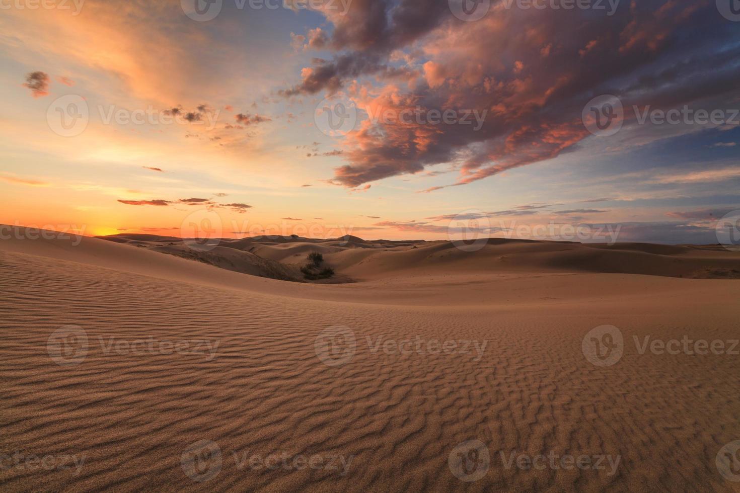 bella vista sul deserto del gobi. Mongolia. foto