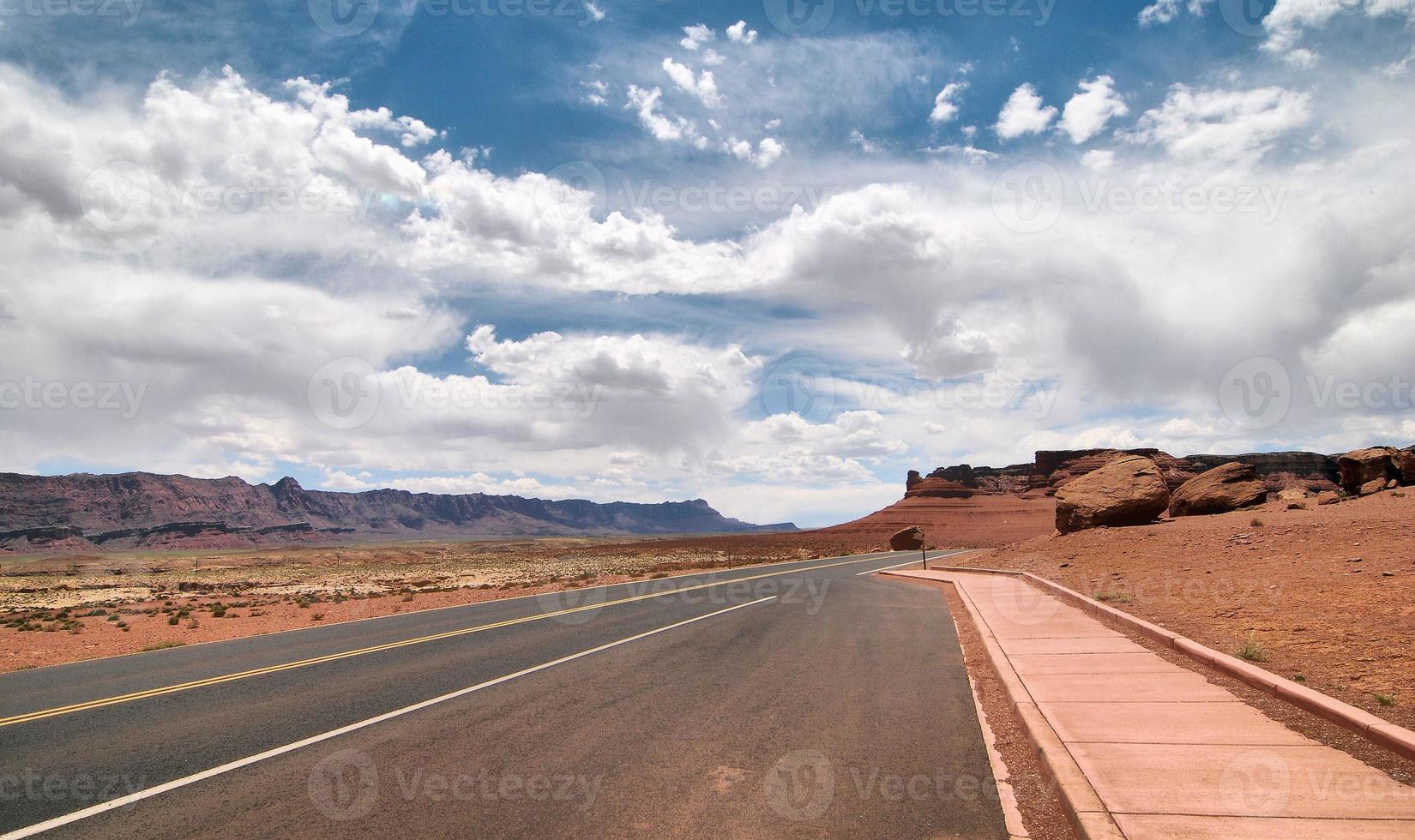 marciapiede del deserto foto