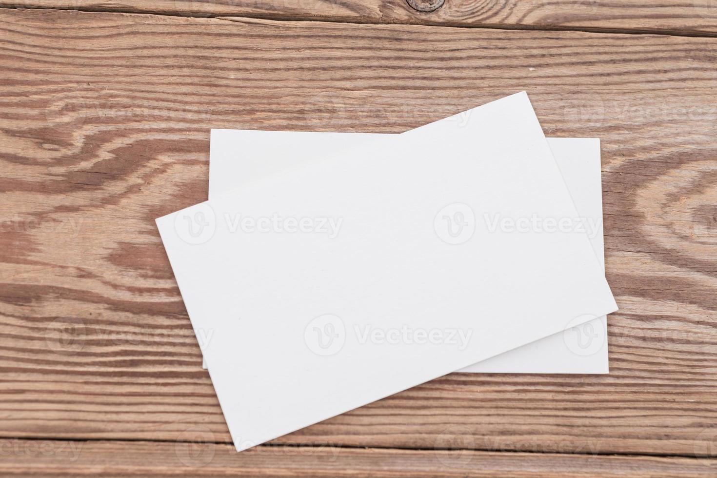biglietto da visita in bianco foto