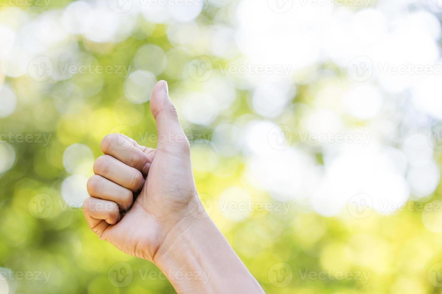 segno della mano dell'uomo foto