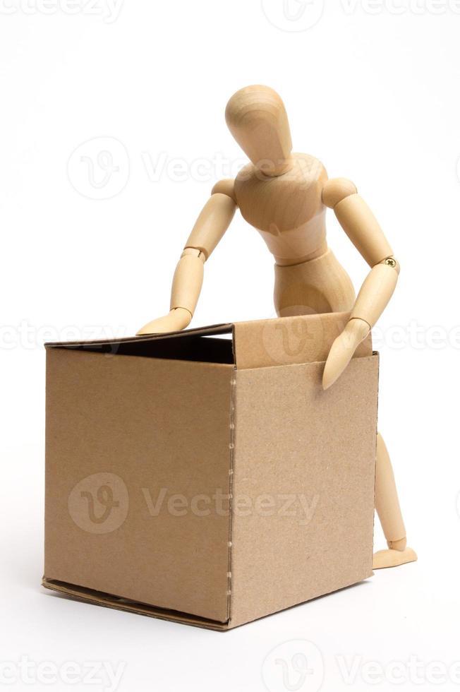 manichino con pacchetto foto