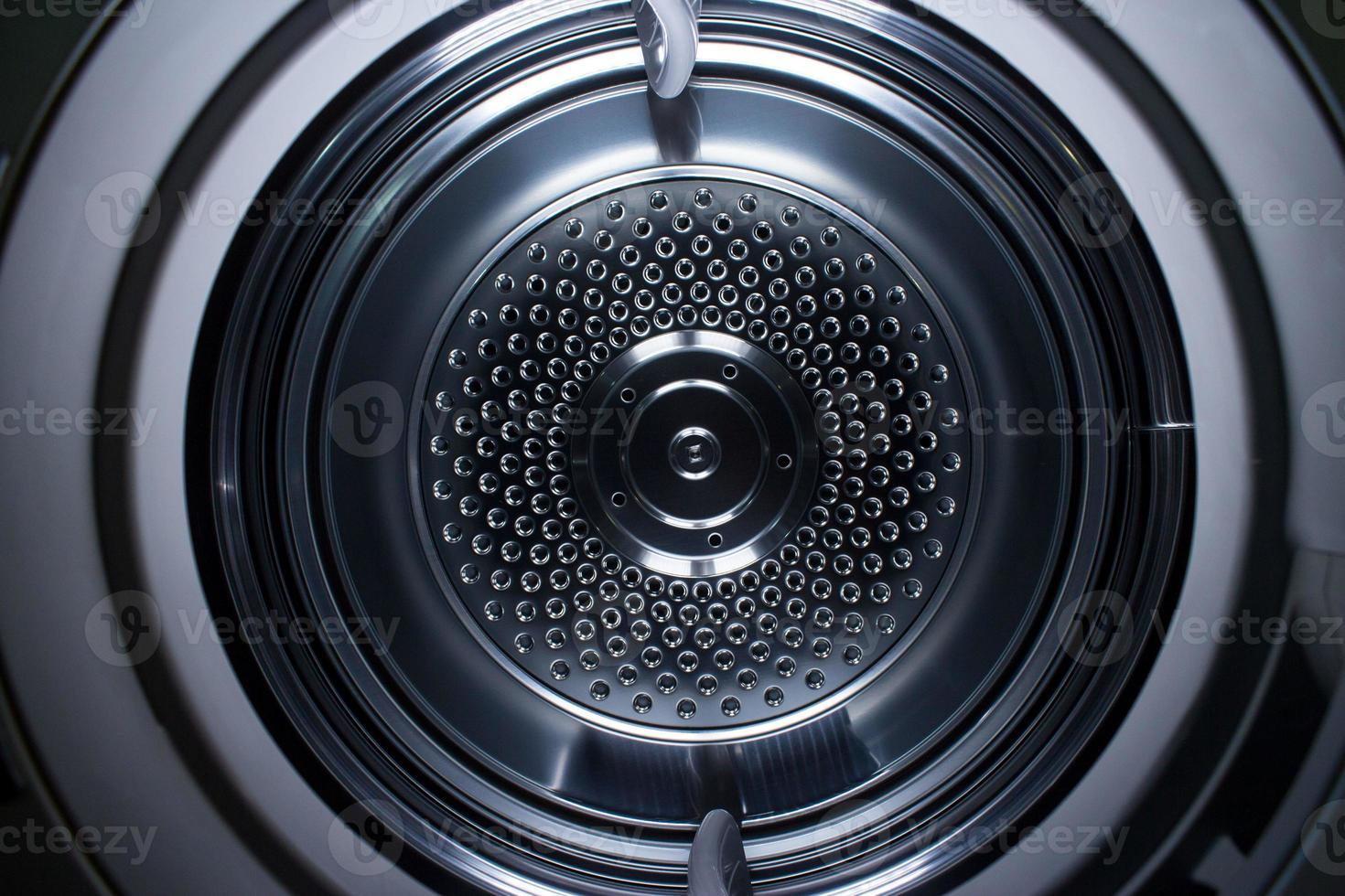 all'interno di una macchina asciugatrice. foto