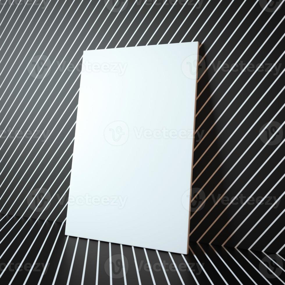 cornice bianca vuota sullo sfondo astratto foto