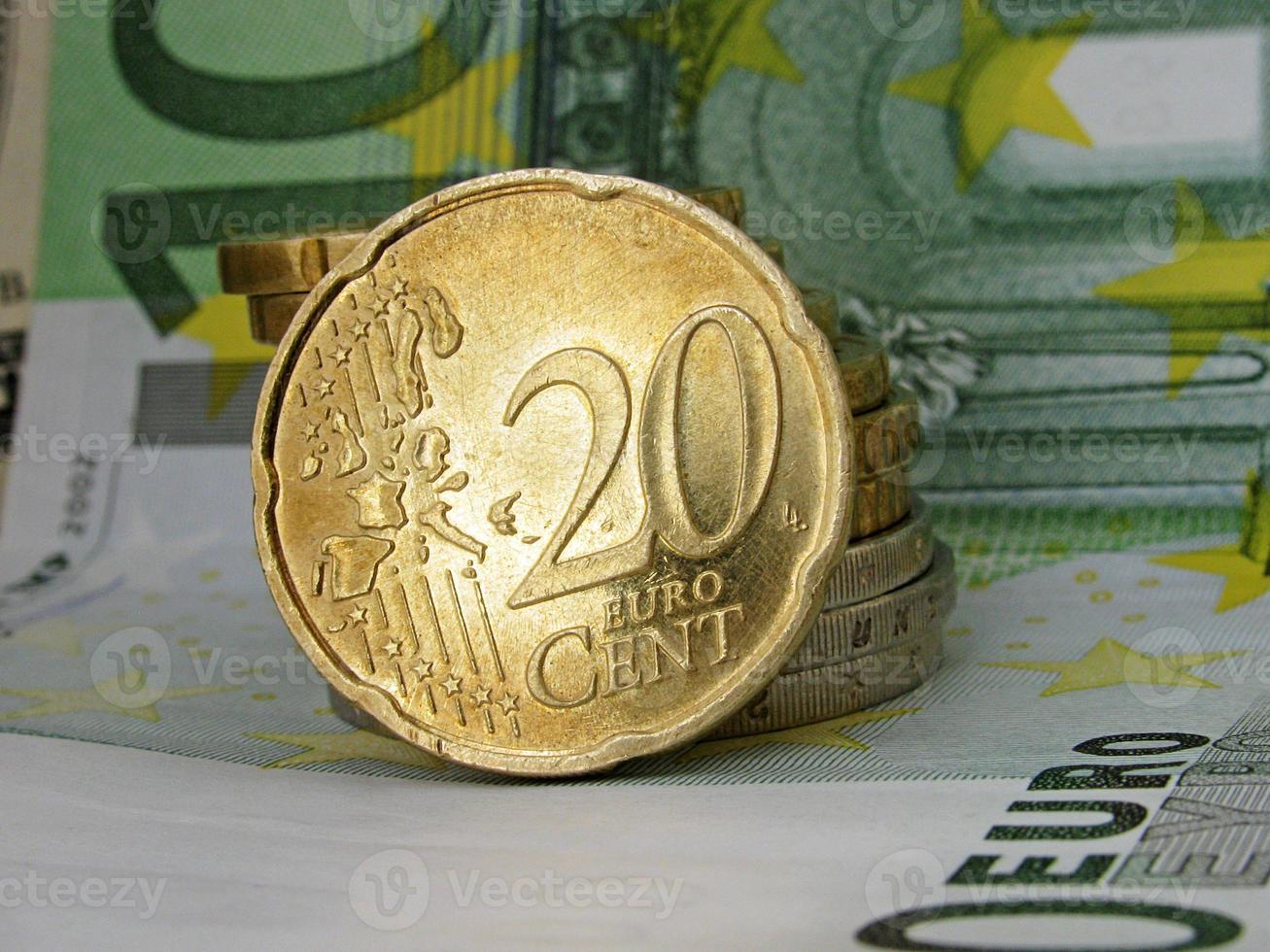 moneta da venti centesimi di euro foto