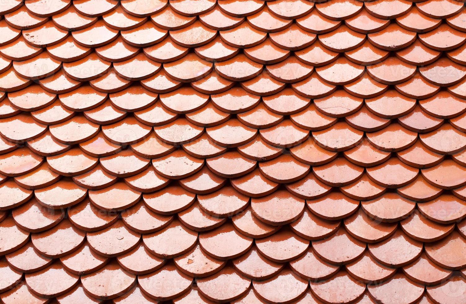 tetto di tegole rosse foto