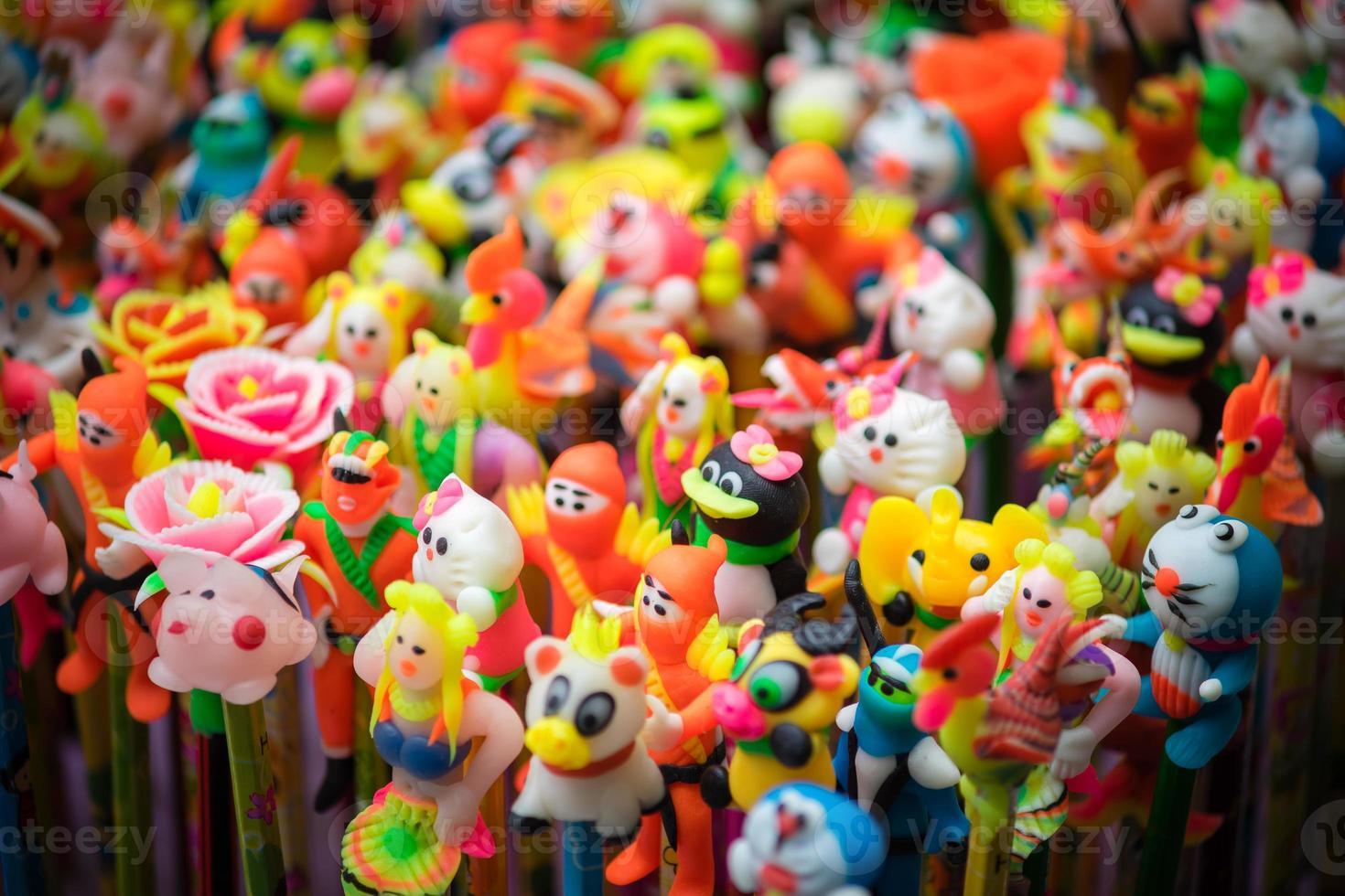decorazioni tradizionali di colore nel festival di metà autunno dell'Asia foto