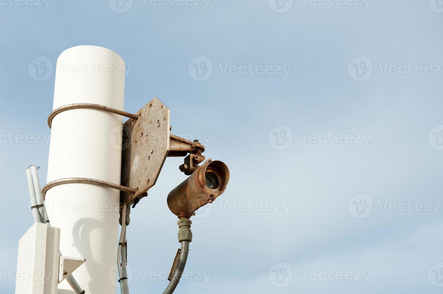 sensore di linea di vista rilevatore di gas vista frontale foto