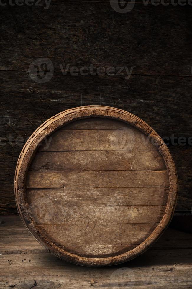 birra in botte di legno foto