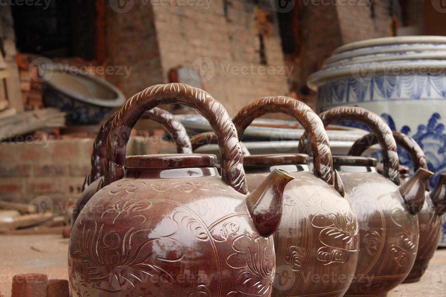 fabrique de poterie foto