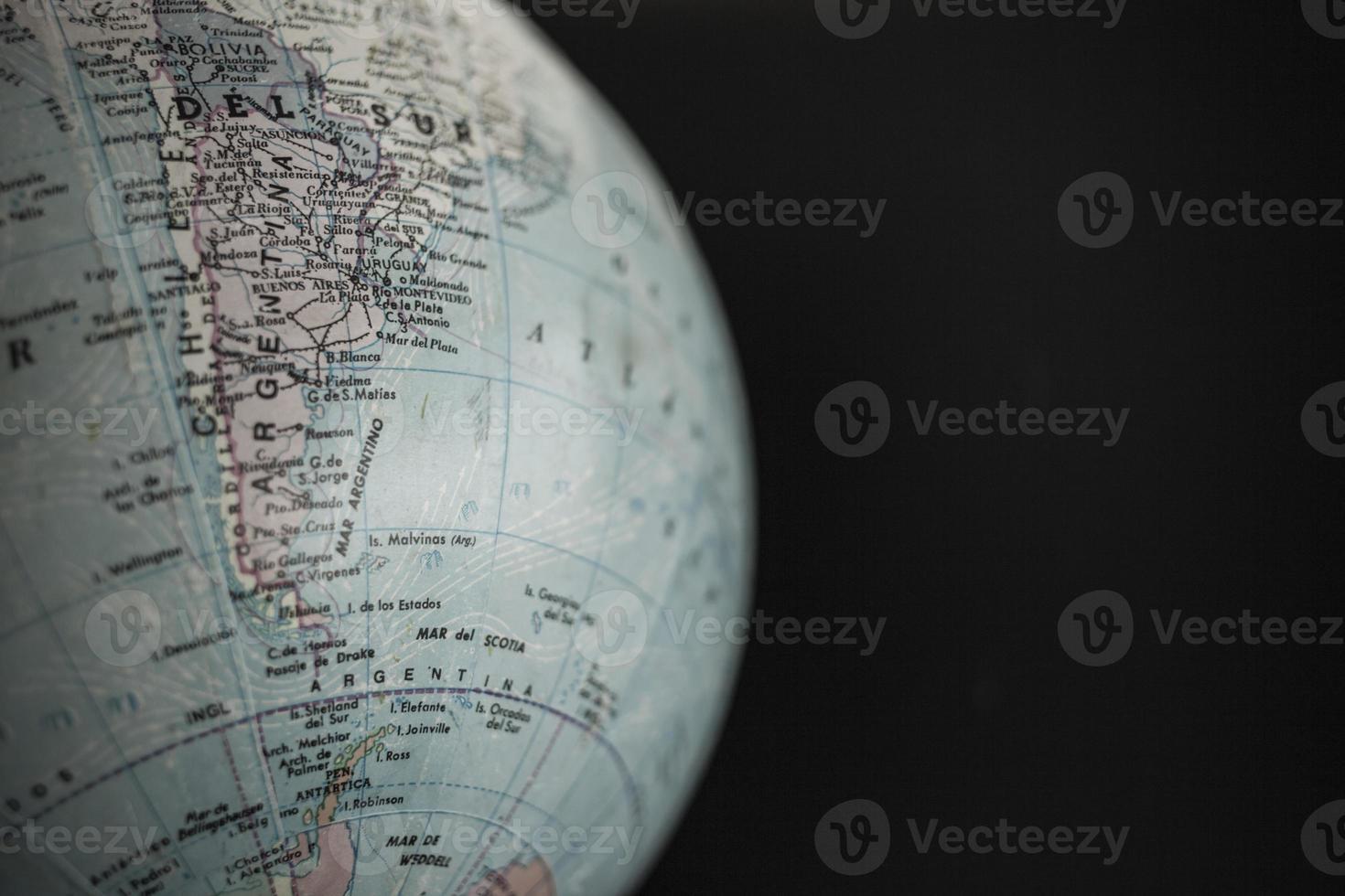 globo terráqueo, americano del sur foto