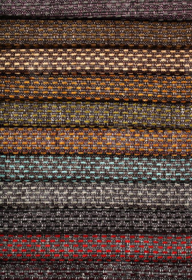 tappezzerie materiali tessili varietà sfumature di colori foto