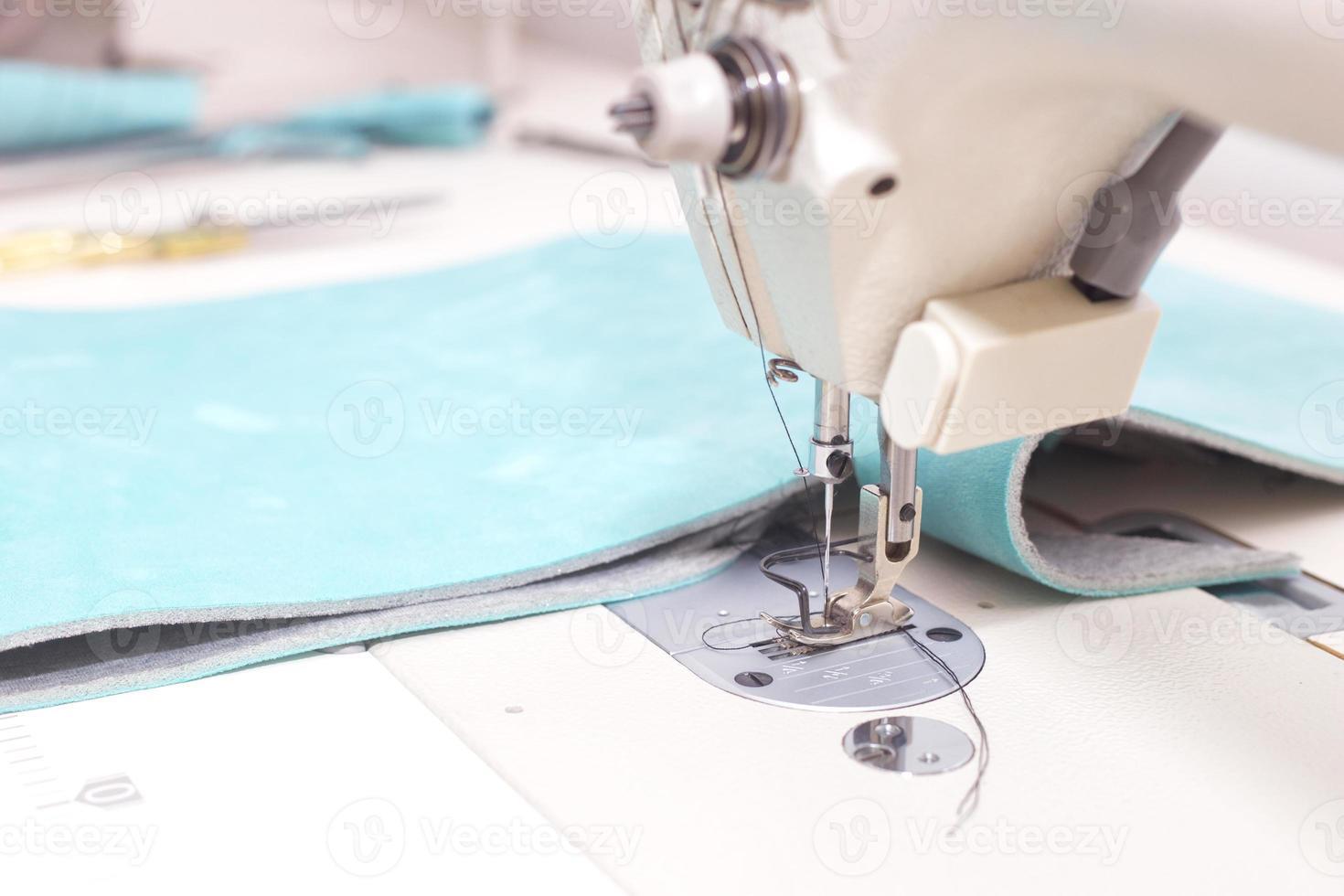 macchina da cucire da vicino. foto