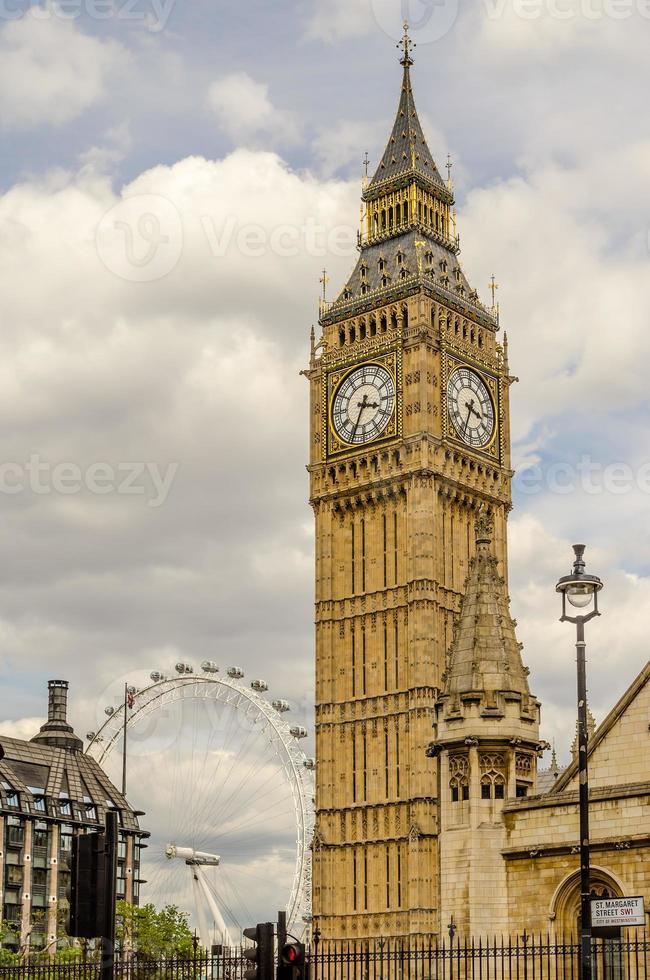il big ben, case del parlamento, londra foto
