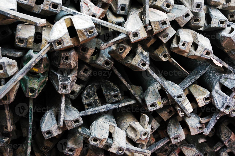 sfondo industriale con jack per impalcature foto