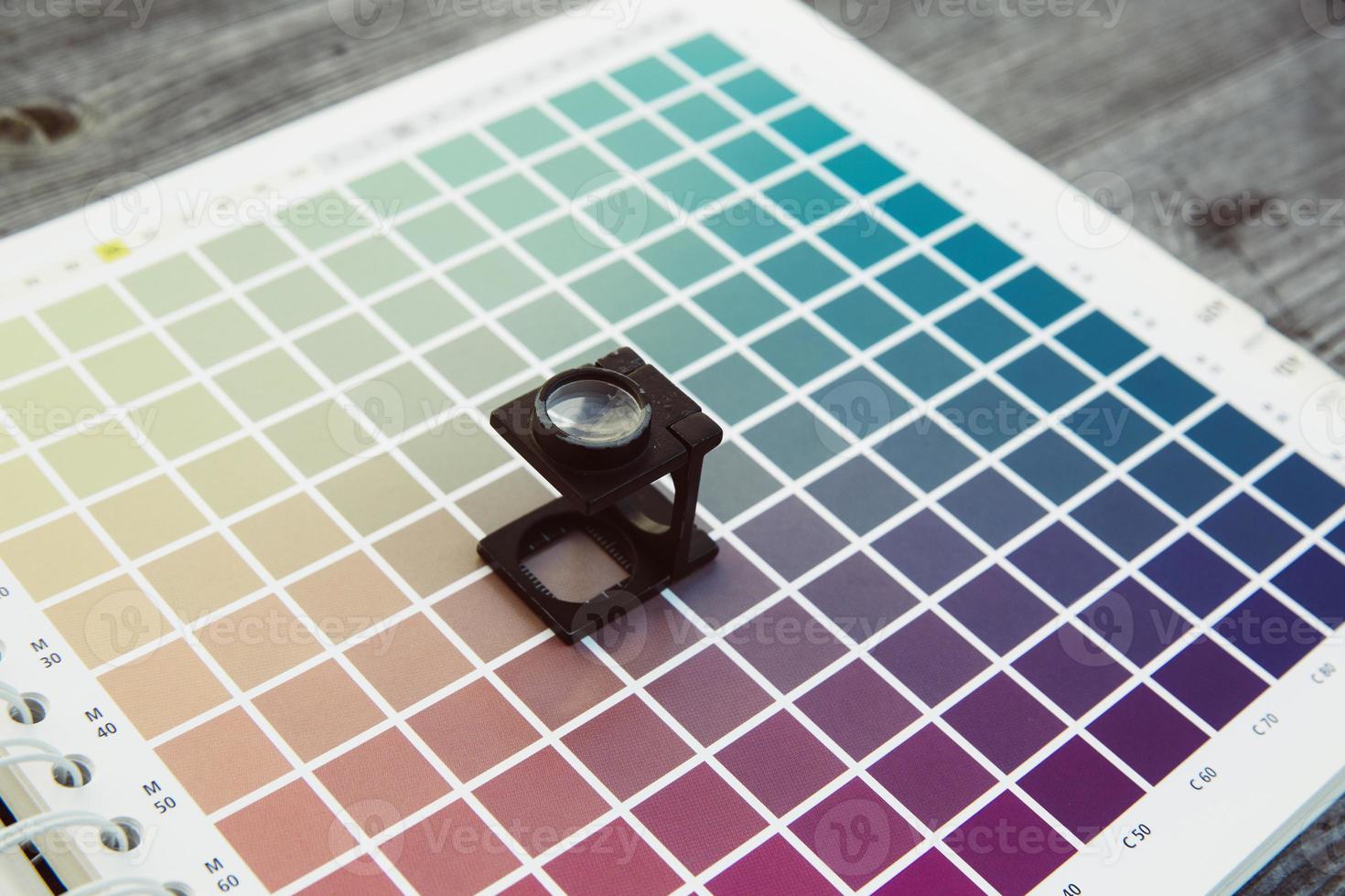 tester di biancheria per la gestione del colore cmyk foto