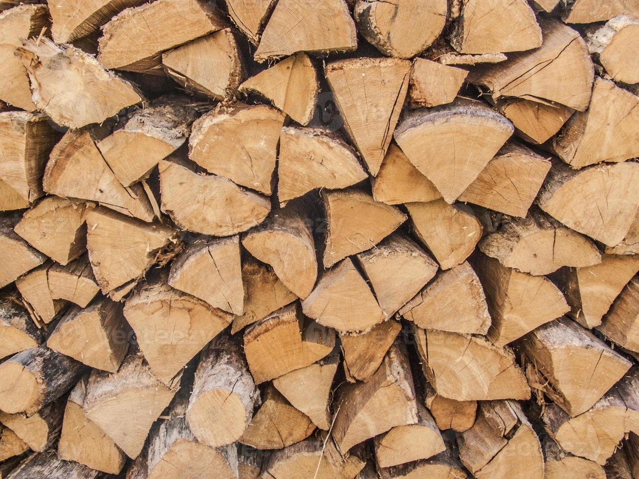 mattonelle di legna da ardere foto