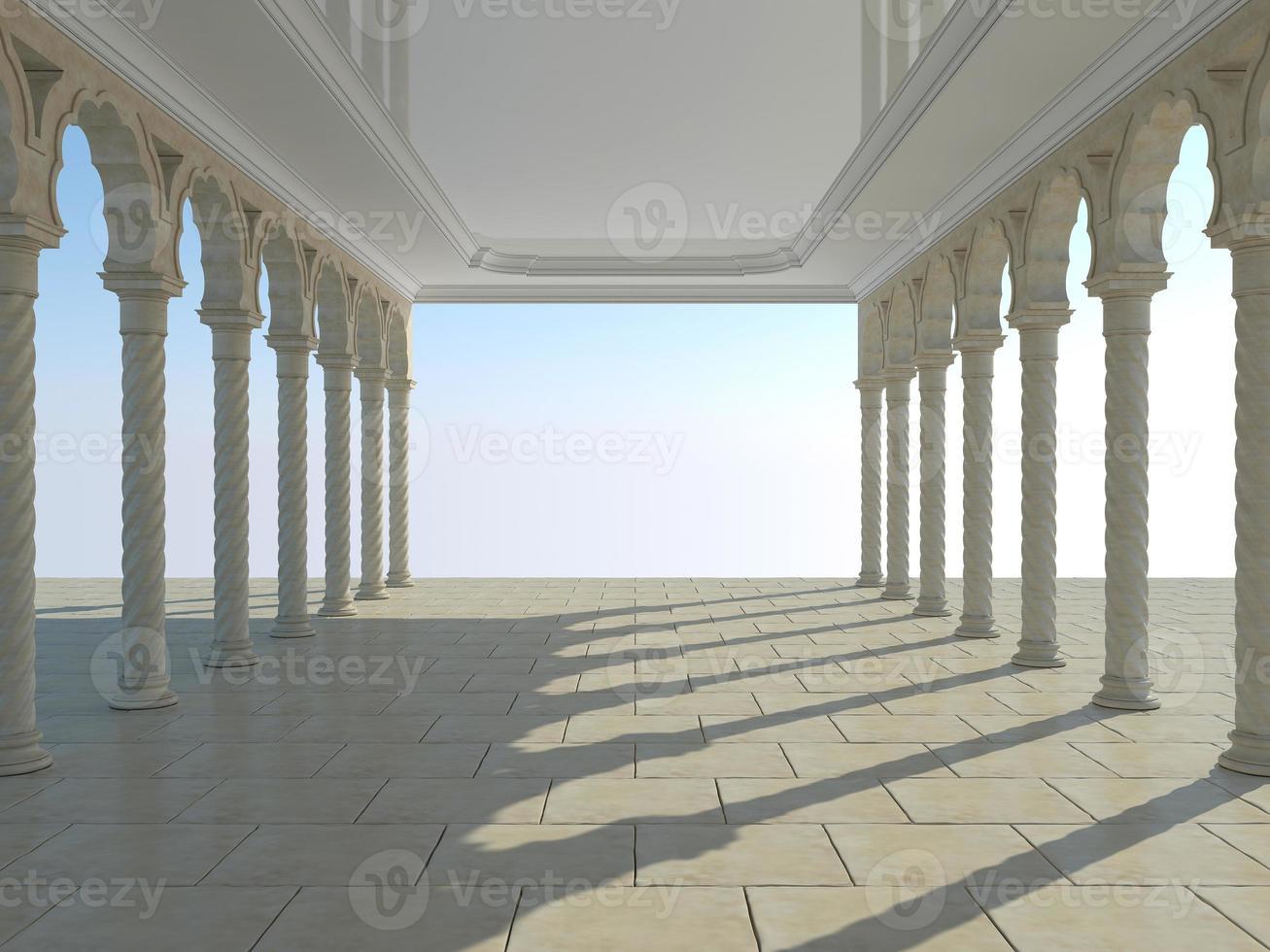 colonnato di antiche colonne foto